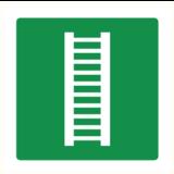 Pictogramme de sécurité échelle d'évacuation