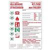 Pikt-o-Norm Pictogramme de sécurité instructions en cas d'incendie 4 langues