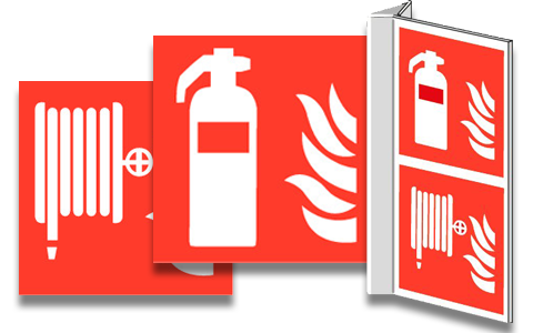 Pictogrammes protection d'incendie