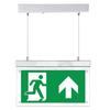Protectionincendieshop Panneau d'éclairage de secours LED avec étiquettes de direction
