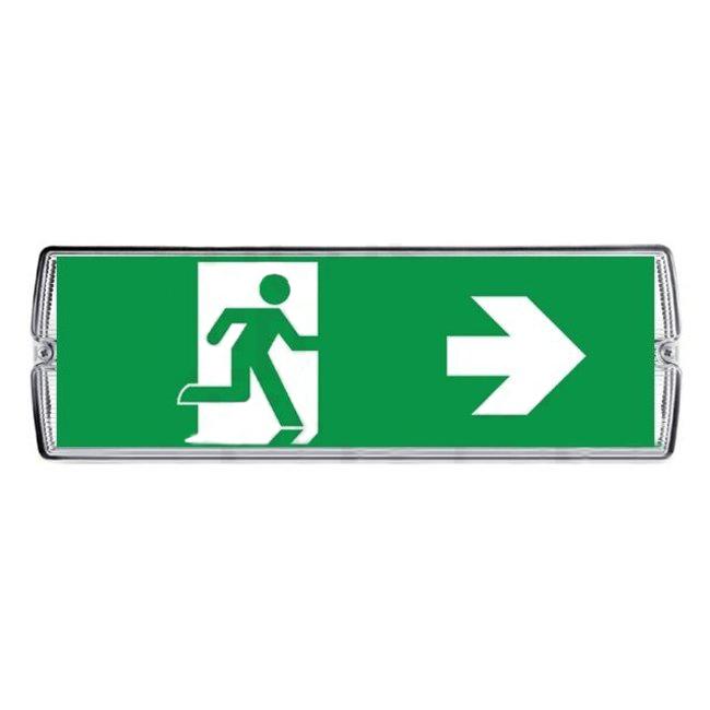 Protectionincendieshop Eclairage de secours LED avec 4 étiquettes de direction