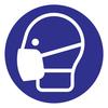 Protectionincendieshop Pictogramme masque buccal obligatoire contre Corona  (Covid-19).