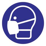 Pictogramme masque buccal obligatoire contre Corona  (Covid-19).
