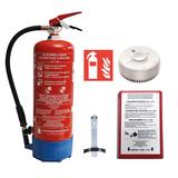 Pack extincteur à eau pulvérisée (mousse) 6l full option