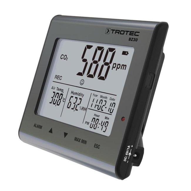 Trotec Trotec compteur de CO2 avec température et humidité et batterie de secours au lithium