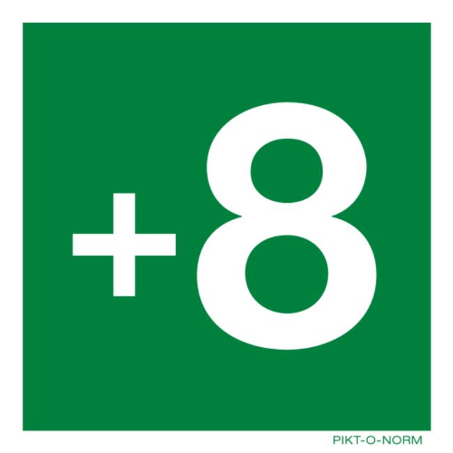 Pikt-o-Norm Pictogramme de sécurité étage -3 jusqu'à 18 autocollant