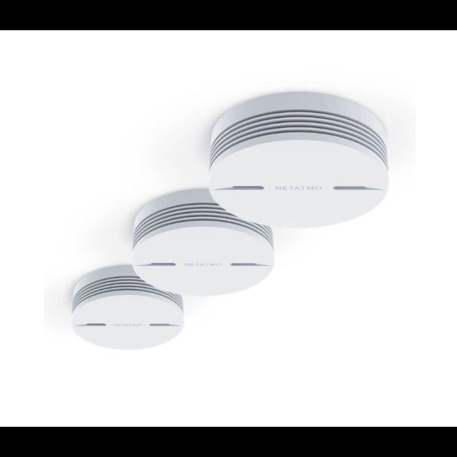 Netatmo Détecteur de fumée connecté Netatmo triple pack - Kits de montage magnétique GRATUITS !