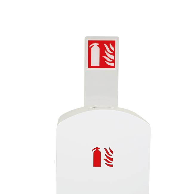 Designfeu Totem avec pictogramme pour cabinet d'extincteurs design Soprano