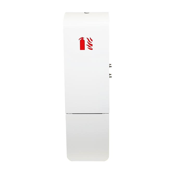 Designfeu Cabinet d'extincteurs design Soprano blanc