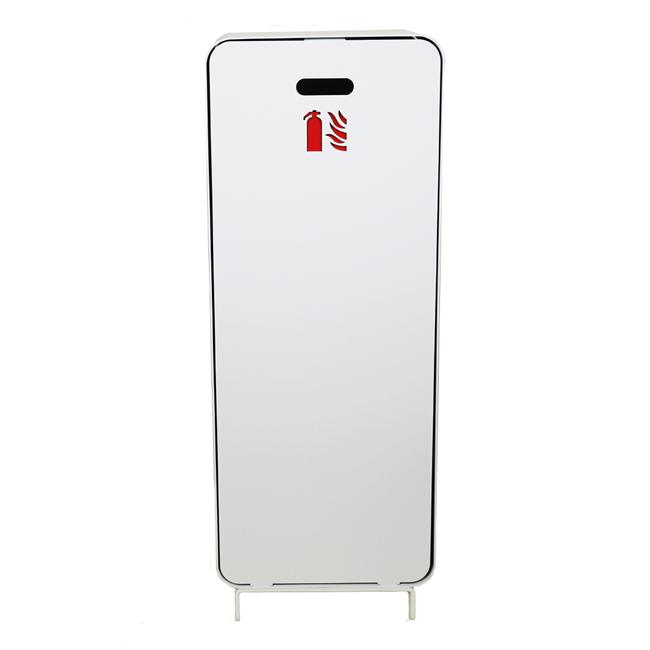 Designfeu Cabinet d'extincteurs design Harmony blanc avec porte blanc mat