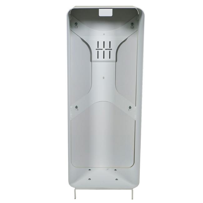 Designfeu Cabinet d'extincteurs design Harmony blanc avec porte en bois de teck