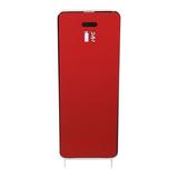 Cabinet d'extincteurs design Harmony blanc avec porte textile rouge