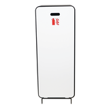 Cabinet d'extincteurs design Harmony noir-brun avec porte blanc mat