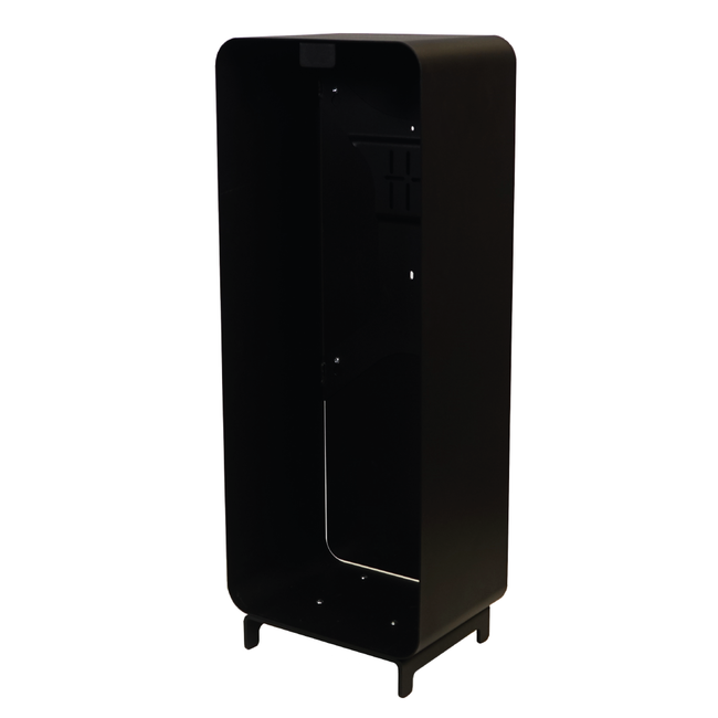 Designfeu Cabinet d'extincteurs design Harmony noir-brun avec porte blanc mat