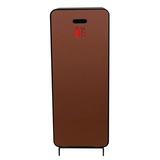Cabinet d'extincteurs design Harmony noir-brun avec porte en cuir synthétique marron châtaigne