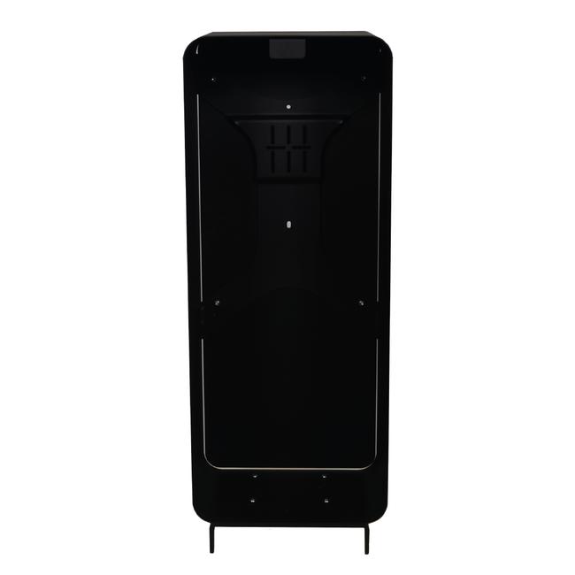 Designfeu Cabinet d'extincteurs design Harmony noir-brun avec porte en cuir synthétique marron châtaigne