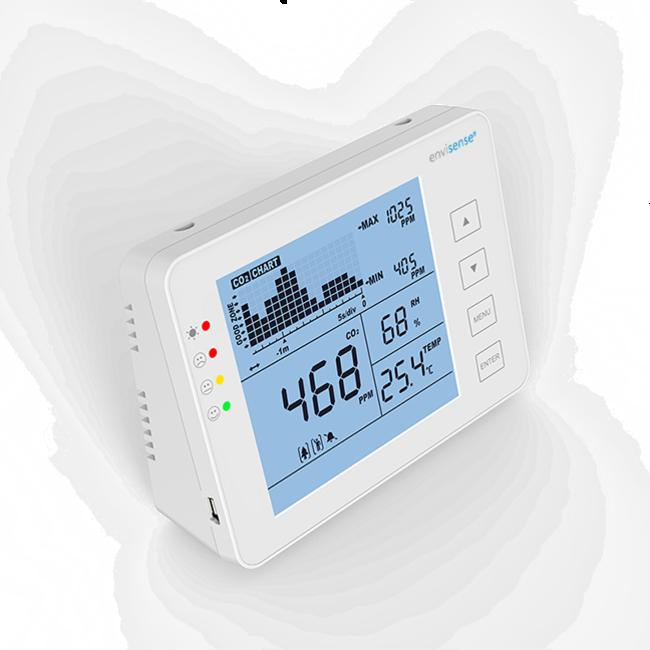 Econox EnviSense compteur de CO2 avec température et humidité