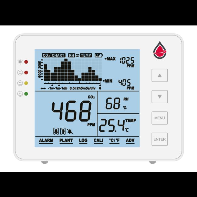 Protectionincendieshop AirCare compteur de CO2 avec batterie et température et humidité