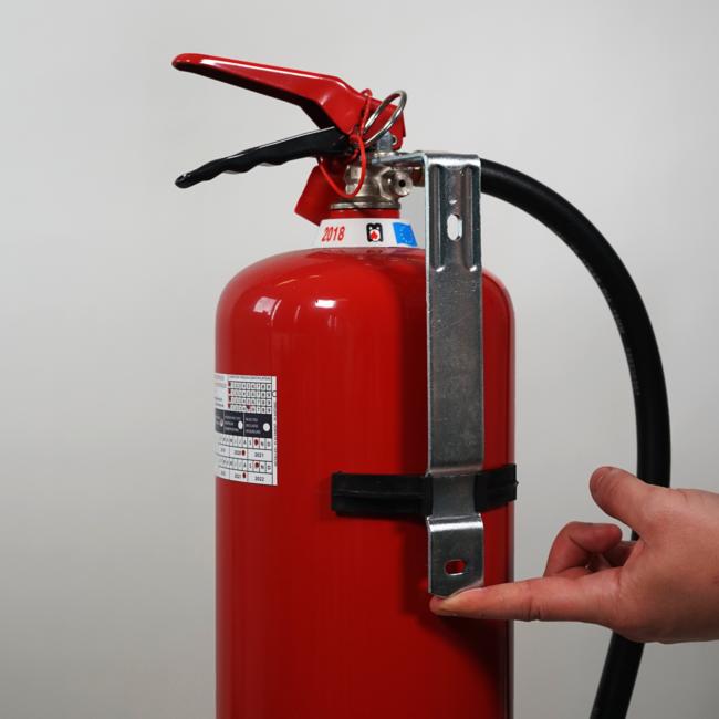 Protectionincendieshop Support mural en métal extincteur à CO2 5kg