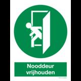 Pictogramme Gardez la porte de secours dégagée