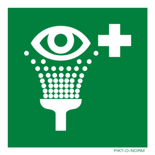 Pikt-o-Norm Pictogramme de sécurité rinçage des yeux
