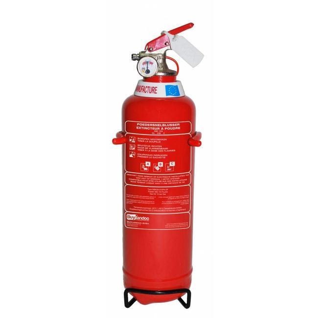 Protectionincendieshop Extincteur à poudre pour véhicules 1kg BENOR (ABC) pression permanente