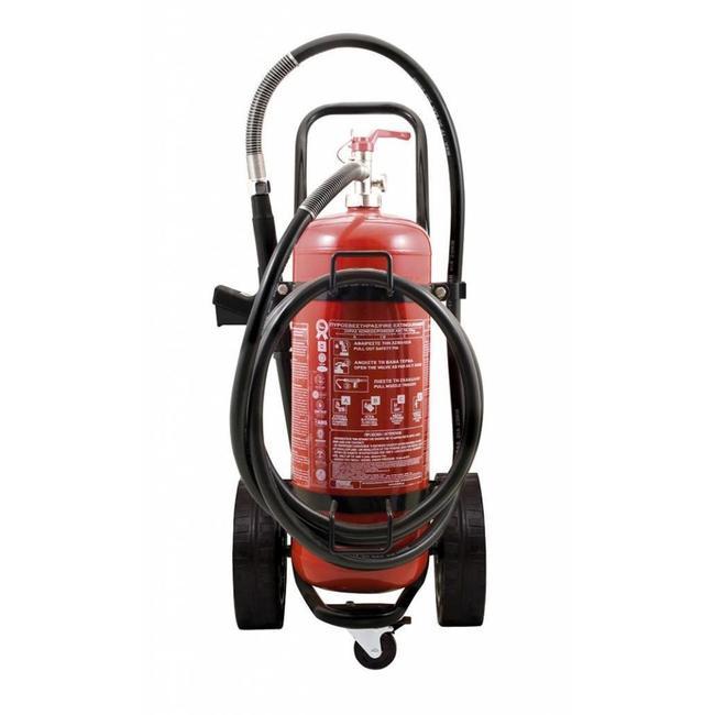 Protectionincendieshop Extincteur sur roues de 25 kg à poudre (ABC) pression permanente