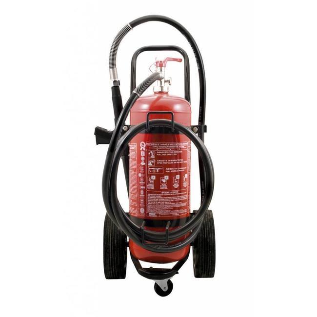 Protectionincendieshop Extincteur sur roues de 100 kg à poudre (ABC) pression permanente