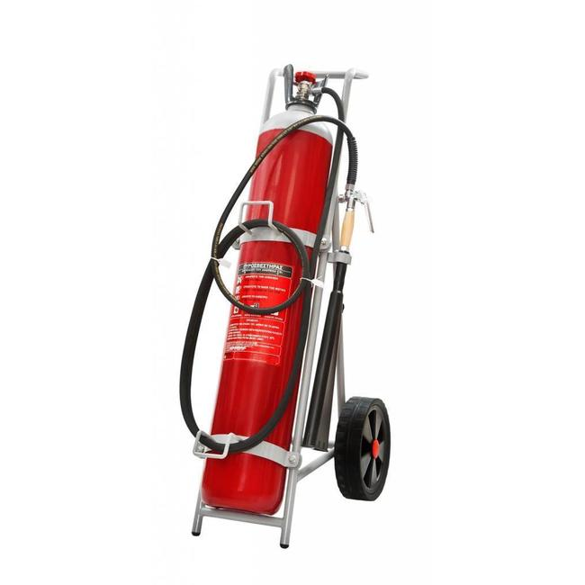 Protectionincendieshop Extincteur sur roues de 30kg CO2 (B) pression permanente