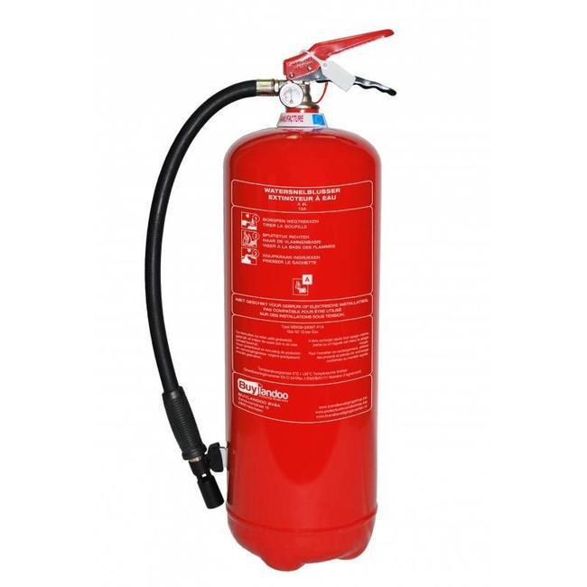 Protectionincendieshop Extincteur à eau 9l (A) pression permanent