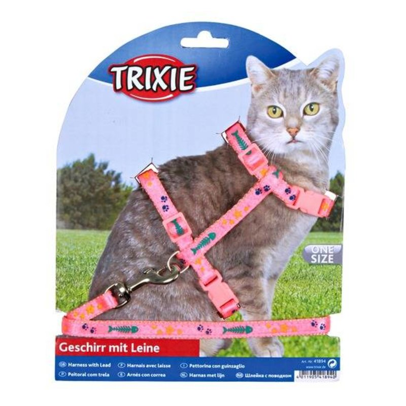Trixie Cat Harness with Lead, Nylon
