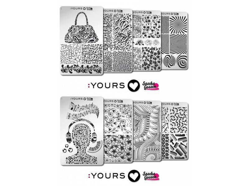 :Yours Cosmetics Loves Sascha Gossen Stempelplaten Collectie