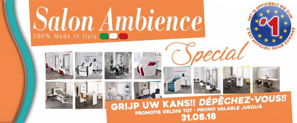 Salon Ambience Actiefolder t/m 31 Augustus 2018
