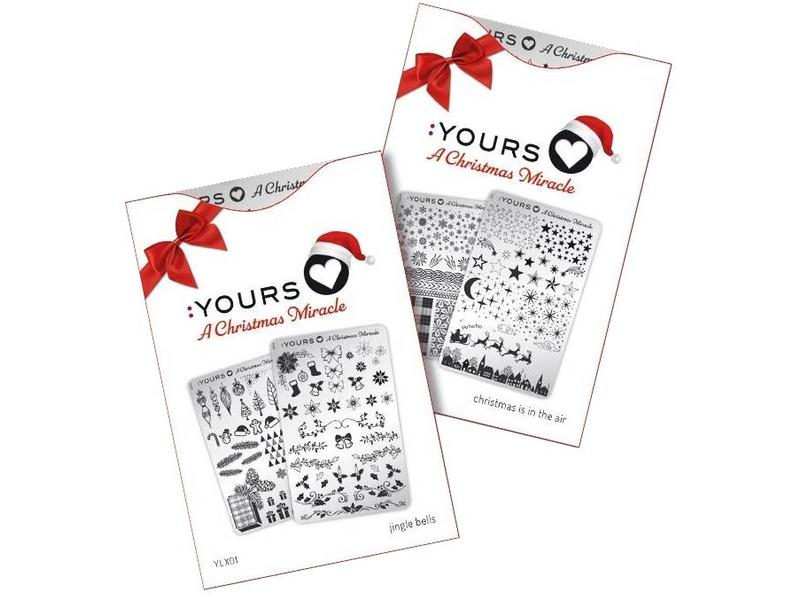 :Yours Cosmetics Loves A Christmas Miracle Stempelplaten (Dubbelzijdig) Kerst 2018 Collectie