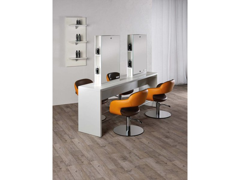 Salon Ambience Brooklyn Kaptafel (Rechthoekige Spiegel)