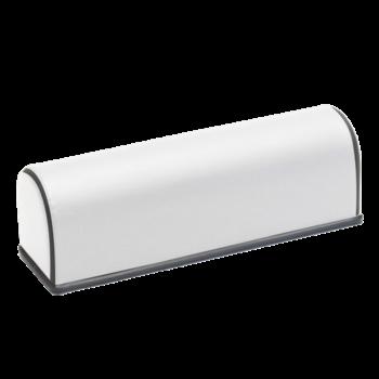 Van Heek Medical /Massage Rol Halfrond Wit Zwarte Bies (53x17x17cm)