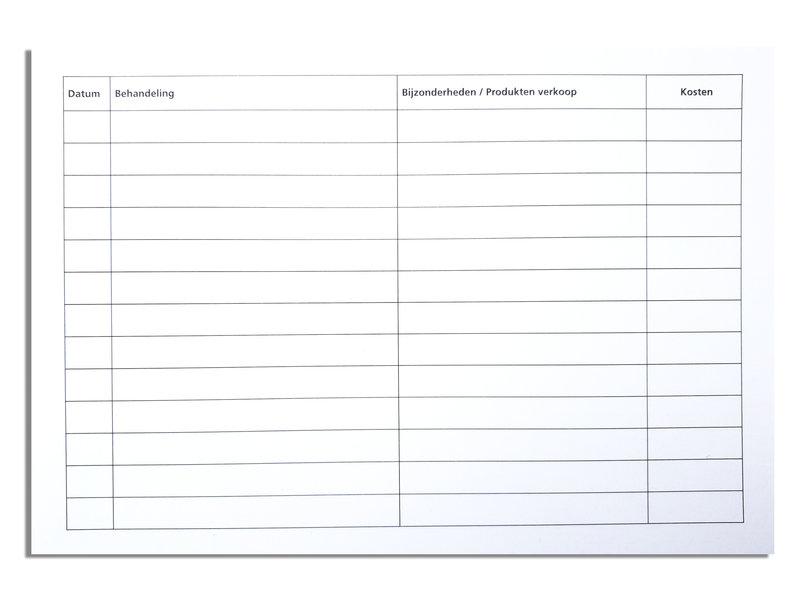 Van Heek Medical Analyse/Patienten Kaarten (100 Stuks)