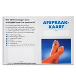 Orthofex Afsprakenkaartje Pedicure (100 Stuks)