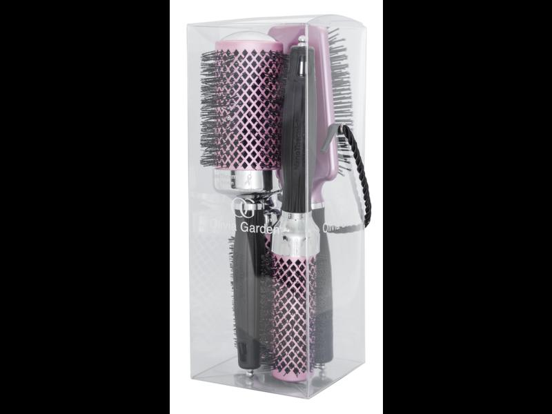 Olivia Garden Think Pink Editie 2019 -Fohnborstel NanoThermic Kit