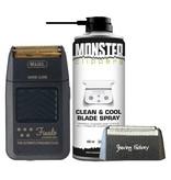 Wahl Set Finale Shaver Scheerapparaat + Shaving Factory Scheerfolie + GRATIS Monster Clippers  Clean & Cool Blade Spray