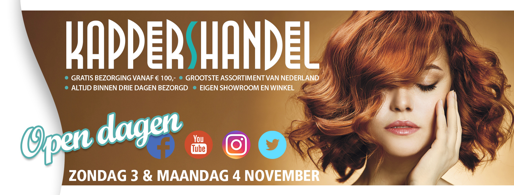 Kappershandel Open Dagen op 3 en 4 November!