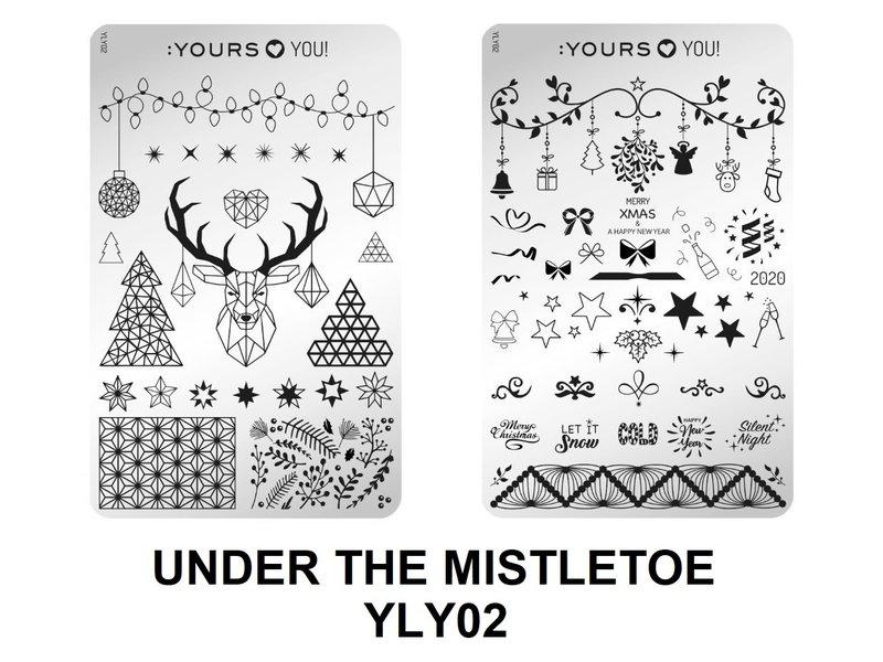 :Yours Cosmetics Loves YOU Stempelplaten (Dubbelzijdig) Kerst 2019 Collectie