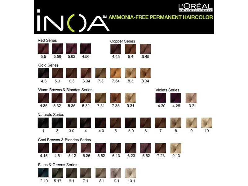 Loreal INOA Haarverf Ammonia-vrij (60ml) (uitlopende kleuren OP=OP)