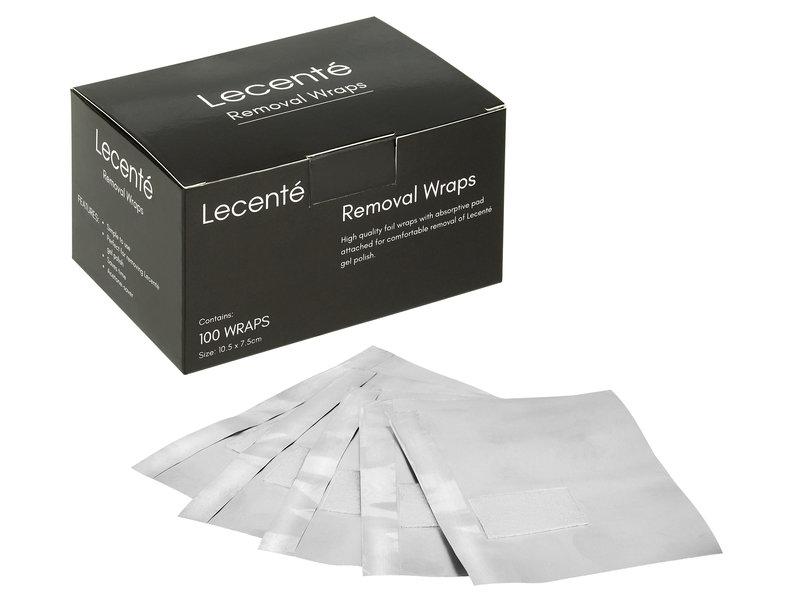 Lecenté Foil Removal Wraps (100 Stuks)
