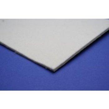 Kappershandel Vilt  Wit 450x150Mm met Kleeflaag (2mm Dik)