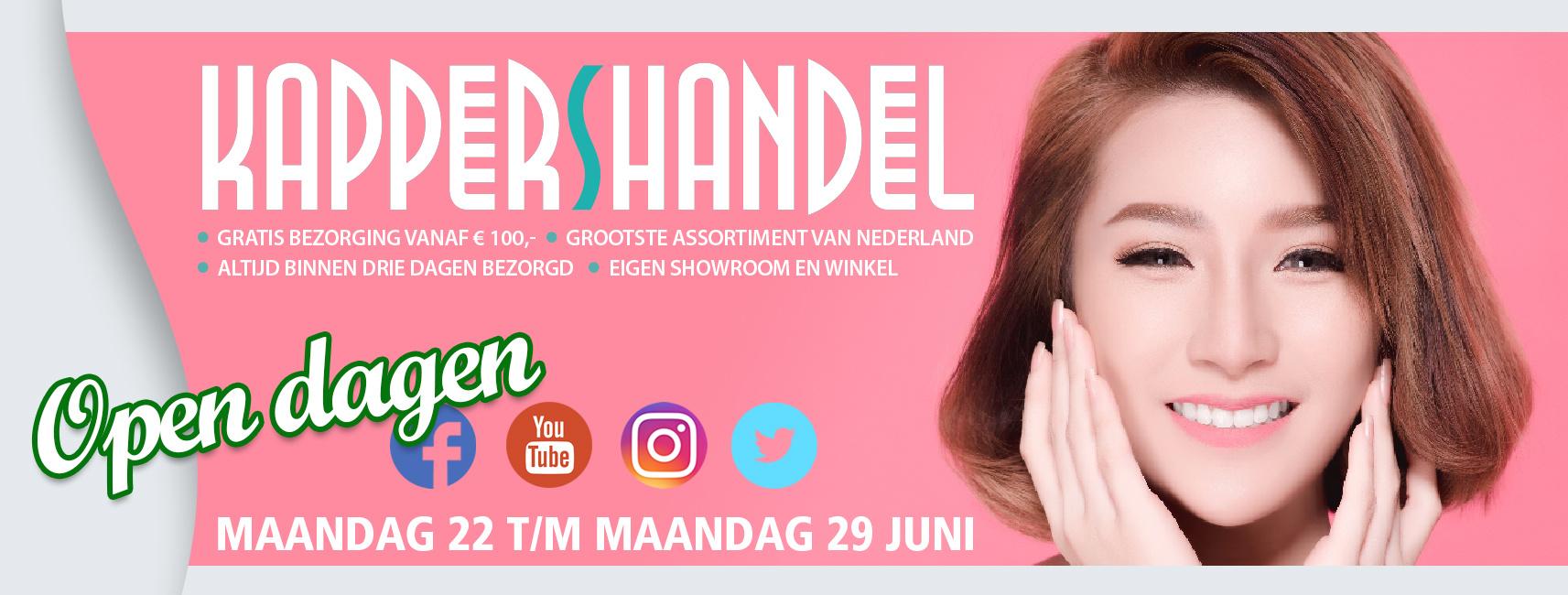 Kappershandel Open Dagen Extra Lang - van 22 t/m 29 Juni!