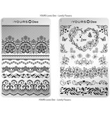 :Yours Cosmetics Stempelplaten Dubbelzijdig - Botanical Love Collectie