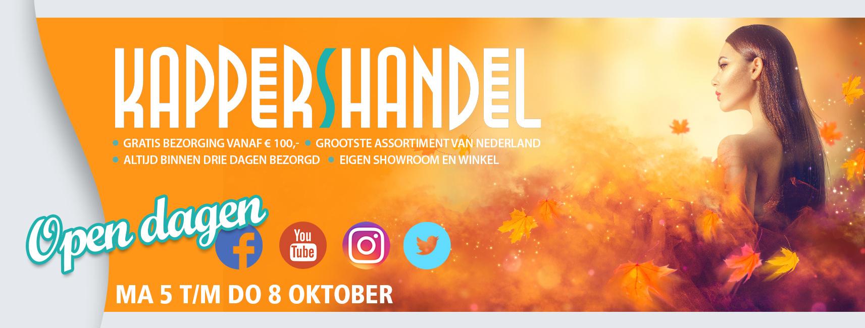 Open Dagen vanaf zaterdag 3 t/m vrijdag 9 Oktober 2020!