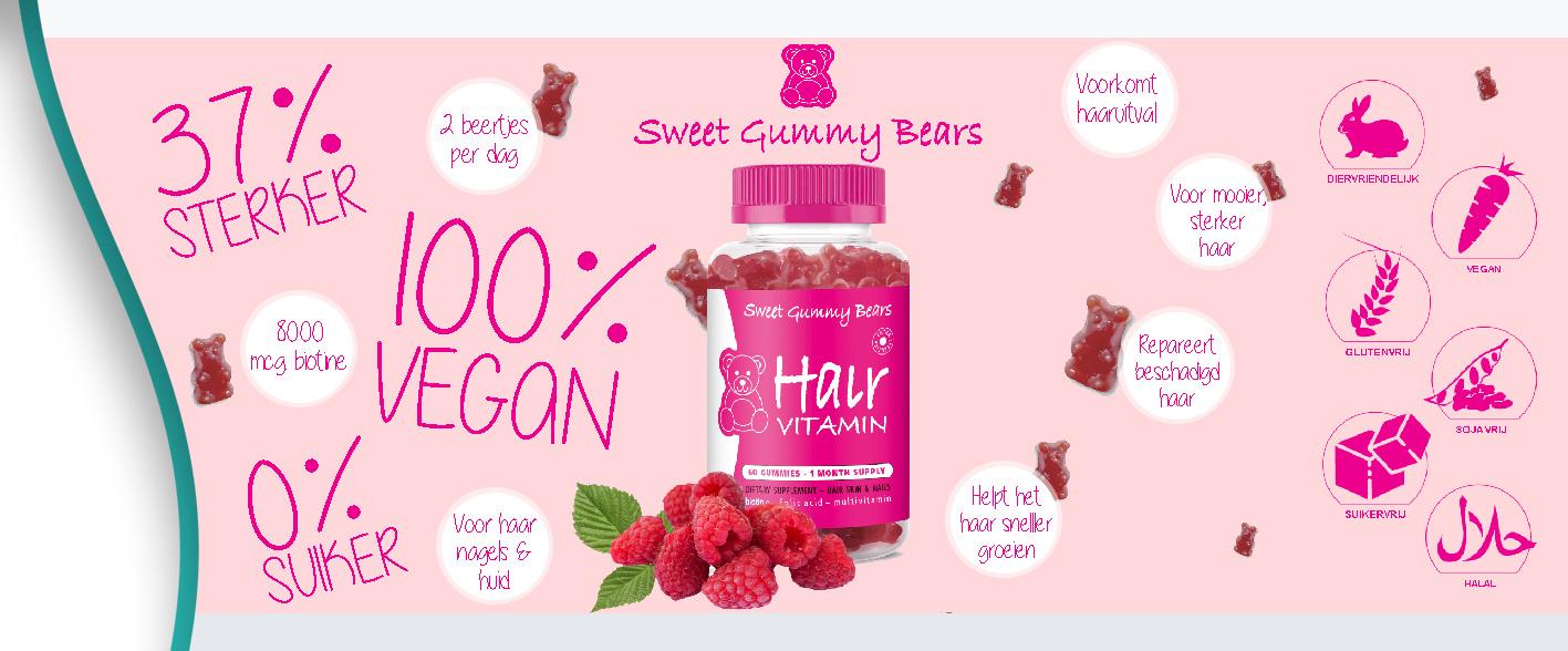 SweetGummyBears Haarvitamines Voedingssupplement | Kappershandel