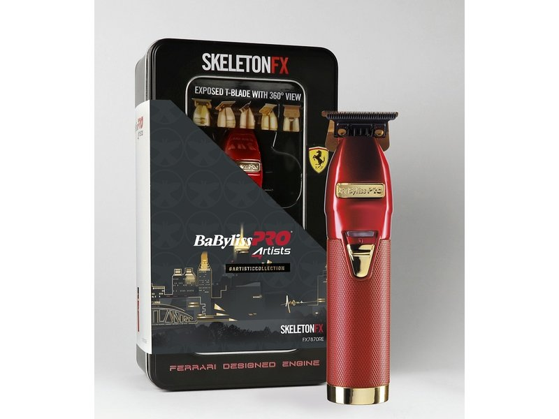 BaByliss PRO PRO4ARtists SKELETONFX Trimmer Rood FX7870RE